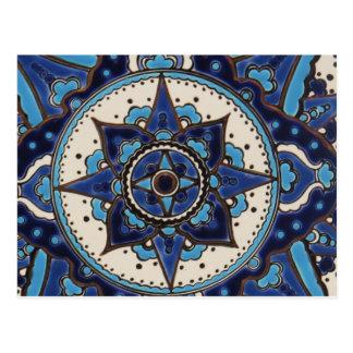 Cartão Postal Azulejos antigos tradicionais do turco do otomano
