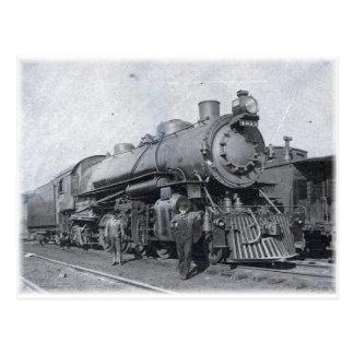 Cartão Postal B & locomotiva de vapor 4013 de O