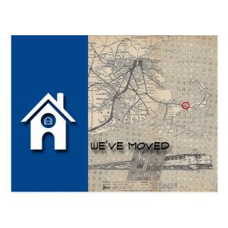 Cartão Postal B nós movemos o mapa da casa substituímos com seu