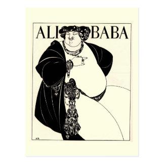 Cartão Postal Babá de Ali por Aubrey Beardsley