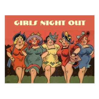 Cartão Postal Bachelorettes cómicos engraçados