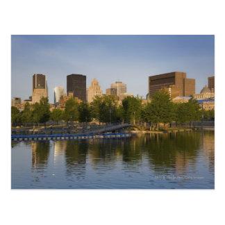 Cartão Postal Bacia de Bonsecours no porto velho de Montreal