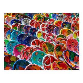 Cartão Postal Bacias mexicanas maias coloridas