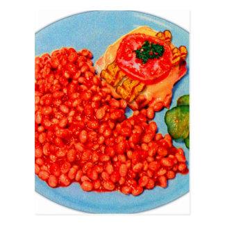 Cartão Postal Bacon Bueger e arte do anúncio do kitsch do