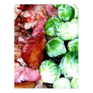 Cartão Postal Bacon e Bruxelas