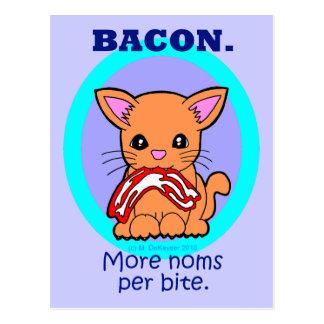 Cartão Postal Bacon: Mais noms por o gato da mordida