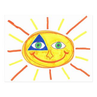 Cartão Postal Badass Sun