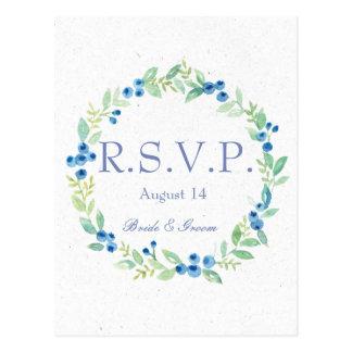 Cartão Postal Baga rústica dos plenos Verões do mirtilo que