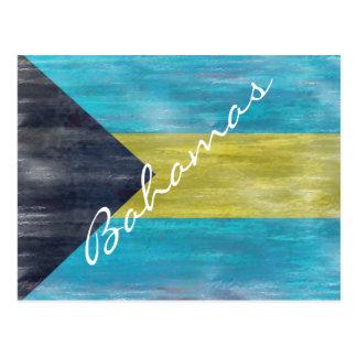 Cartão Postal Bahamas afligiram a bandeira