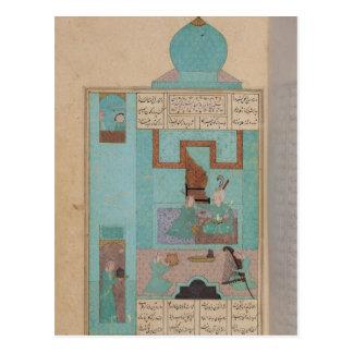Cartão Postal Bahram visita uma princesa na turquesa