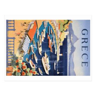 Cartão Postal Baía 1955 de Atenas da piscina do poster de