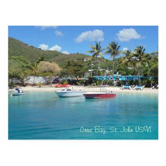 Cartão Postal Baía de Cruz, St John USVI
