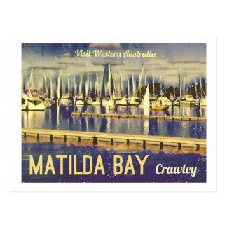 Cartão Postal baía de Matilda do Vintage-estilo, Austrália