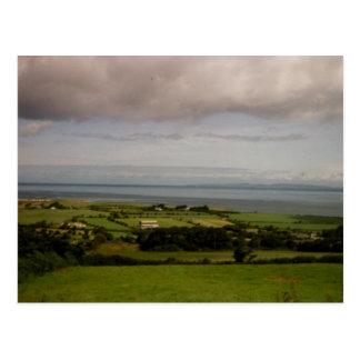 Cartão Postal Baía de Tralee da vista aérea, Kerry, Ireland