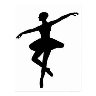 Cartoes Postais Arte Preto E Branco Da Bailarina Zazzle Com Br