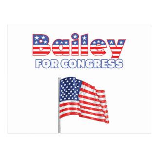 Cartão Postal Bailey para o design patriótico da bandeira