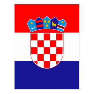 Cartão Postal Baixo custo! Bandeira croata