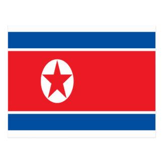 Cartão Postal Baixo custo! Bandeira da Coreia do Norte