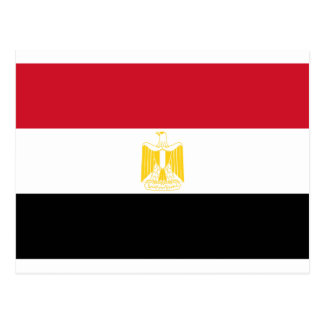 Cartão Postal Baixo custo! Bandeira de Egipto
