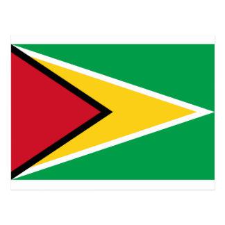 Cartão Postal Baixo custo! Bandeira de Guyana