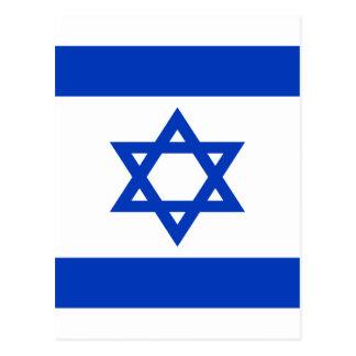Cartão Postal Baixo custo! Bandeira de Israel