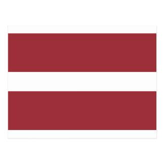 Cartão Postal Baixo custo! Bandeira de Latvia