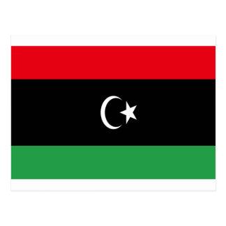 Cartão Postal Baixo custo! Bandeira de Líbia