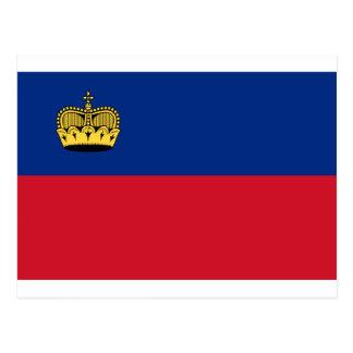 Cartão Postal Baixo custo! Bandeira de Liechtenstein