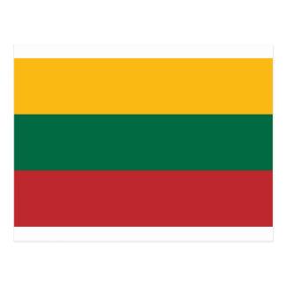 Cartão Postal Baixo custo! Bandeira de Lithuania