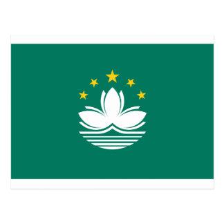 Cartão Postal Baixo custo! Bandeira de Macau