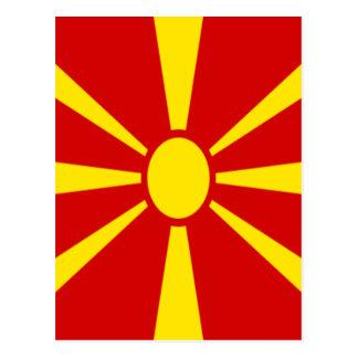 Cartão Postal Baixo custo! Bandeira de Macedónia