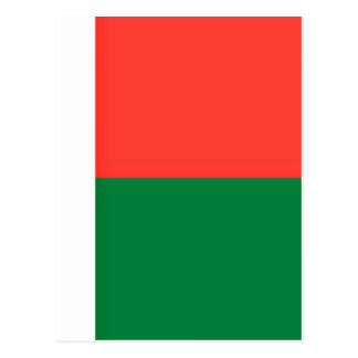 Cartão Postal Baixo custo! Bandeira de Madagascar