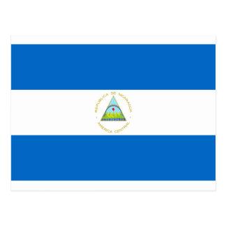 Cartão Postal Baixo custo! Bandeira de Nicarágua