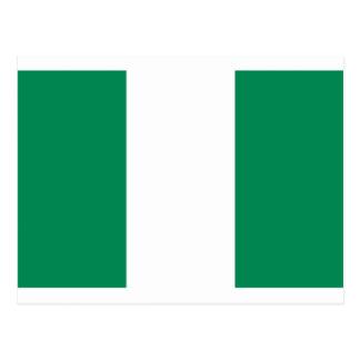 Cartão Postal Baixo custo! Bandeira de Nigéria