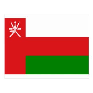 Cartão Postal Baixo custo! Bandeira de Oman