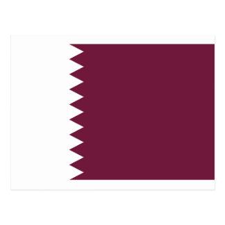 Cartão Postal Baixo custo! Bandeira de Qatar
