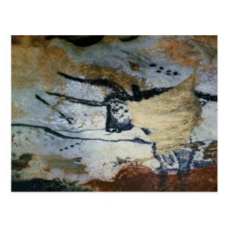 Cartão Postal Balance a pintura de um touro com chifres longos