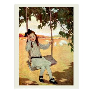 Cartão Postal Balanço da menina
