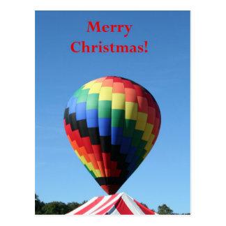 Cartão Postal Balão com uma barraca do bastão de doces!  Feliz