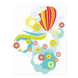 Cartão Postal Balão de ar quente