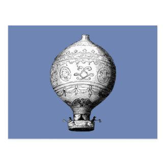 Cartão Postal Balão de ar quente do vintage de Montgolfier
