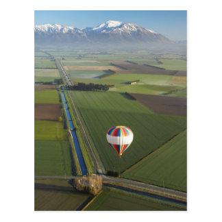 Cartão Postal Balão de ar quente, perto de Methven, Canterbury