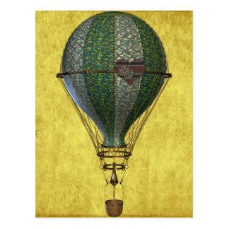 Cartão Postal Balão do Victorian de Steampunk