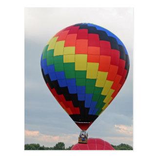 Cartão Postal Balão!   Ziguezague colorido!