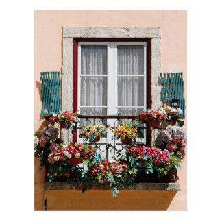 Cartão Postal Balcão da janela de Lisbon´s