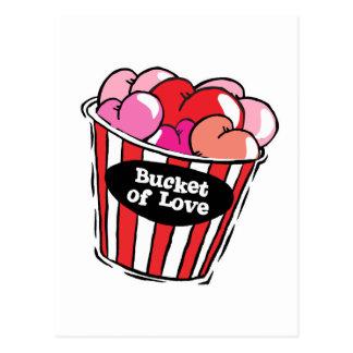 Cartão Postal balde do png do amor