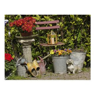 Cartão Postal Baldes, calçados, e flores, Zaanse Schans,