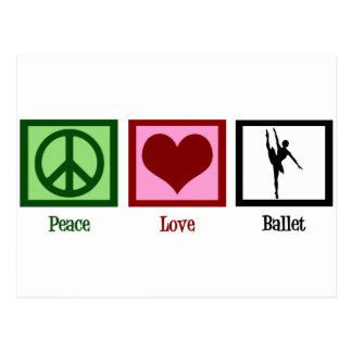Cartão Postal Balé do amor da paz