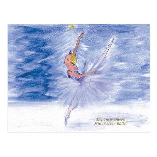 Cartão Postal Balé do Rainha-Nutcracker da neve de Twitt por