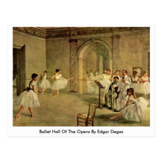 Cartão Postal Balé Salão da ópera por Edgar Degas